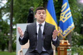 Пресс-конференция президента Украины Владимира Зеленского в Киеве