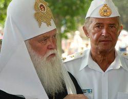 Патриарх Киевский и всея Руси-Украины Филарет принимает участие в праздновании Дня Военно-морских Сил Украины. Севастополь, 2 июля