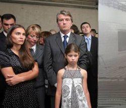 Виктор Ющенко с семьей во время открытия музея Мемориального комплекса «Флоссенбюрг». Бавария, 22 июля