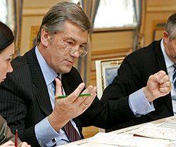 Віктор Ющенко під час зустрічі з мерами міст з питань проведення ЄВРО-2012. Київ, 15 лютого