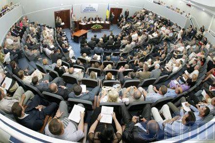 Виктор Ющенко и Валдис Затлерс на открытии украинско-латвийского форума бизнеса