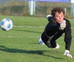 Вратарь сборной Украины по футболу Андрей Пятов во время открытой тренировки. 11 августа
