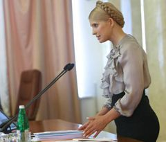 Юлия Тимошенко во время заседания Кабинета министров. Киев, 19 августа