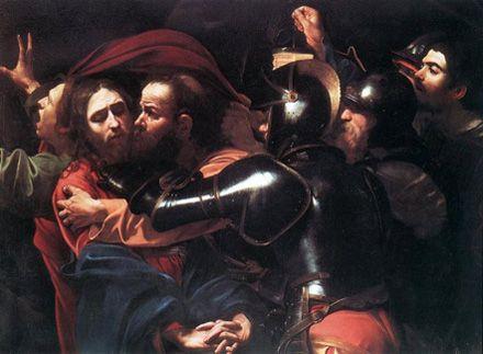 Караваджо. Поцілунок Іуди або взяття Христа під варту (картина викрадена з Одеського музею)