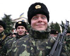 Призовники Військово-Морських Сил Збройних Сил України під час церемонії прийняття присяги в Севастополі. 12 грудня
