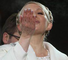 Юлия Тимошенко поздравляет украинцев с Новым годом на Майдане Независимости. Киев, 1 января