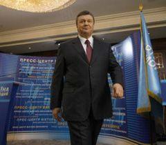Виктор Янукович по окончании пресс-конференции в Киеве. 18 января