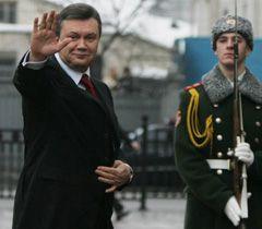 Виктор Янукович перед началом официальной церемонии инаугурации