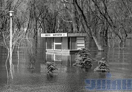 Наводнение 1970 года. Киев, Гидропарк