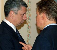 Юрий Бойко и Алексей Миллер перед началом встречи в Ново-Огарево