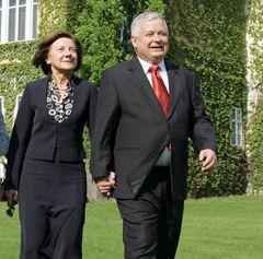 Лєх Качиньський та його дружина Марія