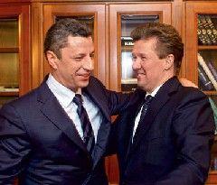 Министр топлива и энергетики Украины Юрий Бойко и глава Газпрома Алексей Миллер