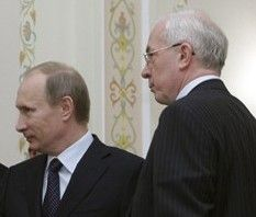 Николай Азаров и Владимир Путин
