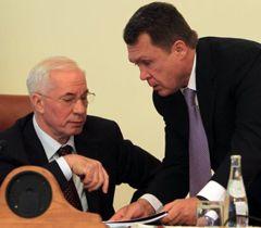 Николай Азаров и Владимир Семиноженко во время совещания по вопросам анализа ситуации в сфере здравоохранения