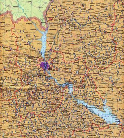 "Карта ""Україна. Голодомор 1932-1933"""