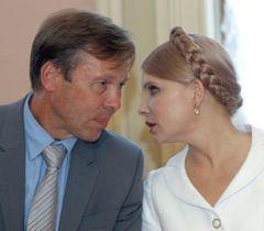 Сергей Соболев и Юлия Тимошенко во время заседания оппозиционного правительства в Киеве. 1 июля
