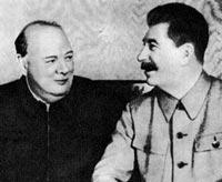 Черчилль, Сталін