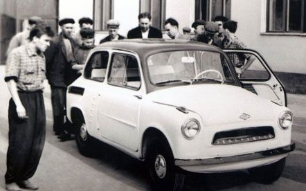 Первый опытный образец автомобиля «ЗАЗ-965», Запорожье, июль 1959 г.