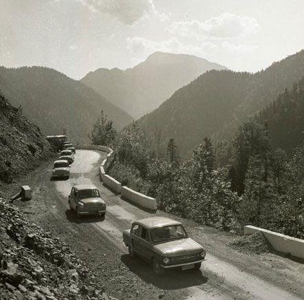 Испытания «ЗАЗ-965» на горных дорогах, в Ялте (Крым), август 1962 г.