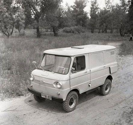 Фургон для мелких грузов в торговле ЗАЗ-970 Ф, который не был поставлен на производство, август 1964 г.