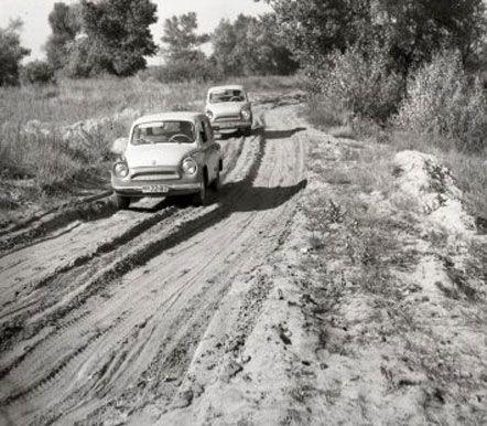 Испытания «ЗАЗ-965» на песчаных дорогах, Запорожье, август 1962 г.