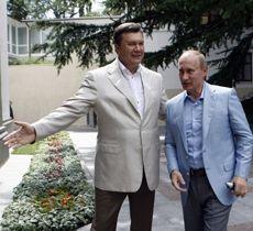 Віктор Янукович та Володимир Путін в резиденції президента України у Форосі, 24 липня