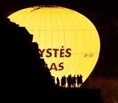 Воздушный шар во время Международного фестиваля воздушных шаров в Севастополе