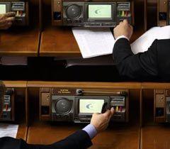 Народные депутаты голосуют во время заседания ВР. Киев, 2 ноября
