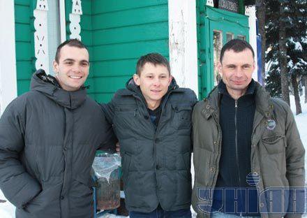 Микола Шимко, Володимир Рошко та Дмитро Нечипоренко в Сумах. 19 січня 2011