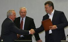 В.Янукович, Н.Азаров и А.Близнюк