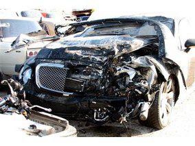 Bentley «мажора» після аварії