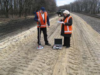 Проверка  качества  уплотнения  отсыпанного  грунтаприбором HMP LFG pro+на 39  км уч.Полтава – Красноград