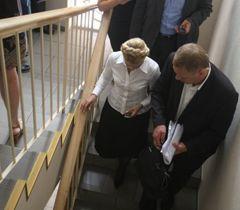 Юлия Тимошенко покидает зал заседания Печерского районного суда. Киев, 15 июля