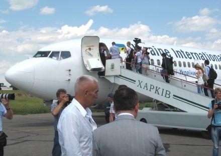 8 червня 2011Борис Колесников і Олександр Ярославський, Харківський аеропорт
