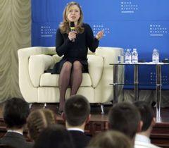 Челсі Клінтон під час зустрічі з українськими студентами у Києві