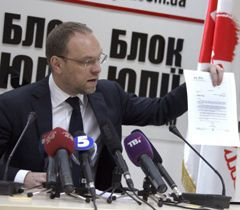 Адвокат Юлии Тимошенко Сергей Власенко во время брифинга в Киеве. 19 марта