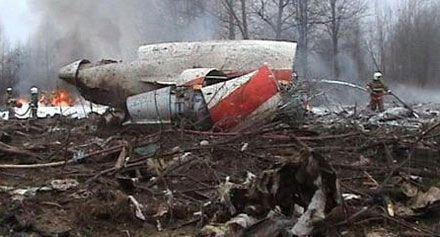 Пожарные работают на месте катастрофы Ту-154