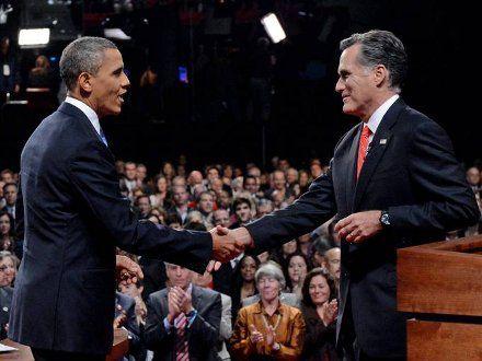 Кандидаты в президенты США Барак Обама и Митт Ромни