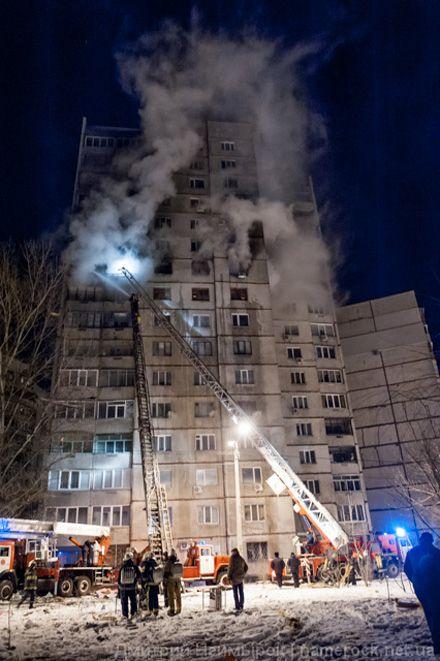 Харків, вибух газу у 16-поверхівці, 16 грудня 2012. Фото Дмитра Неймирока