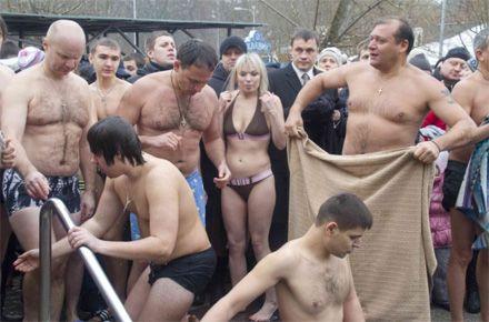 Михайло Добкін. Хрещення 19.01.2013. Саржин Яр