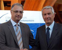 Євген Перелигін та Генеральний секретар Ради Європи Торбойрн Ягленд