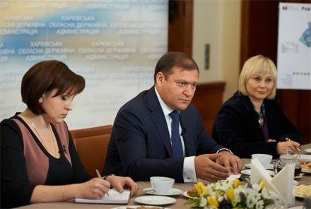 Михайло Добкін, чай з губернатором