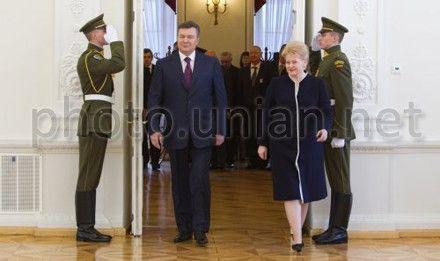 Грибаускайте сказала Януковичу, что время дейстовать