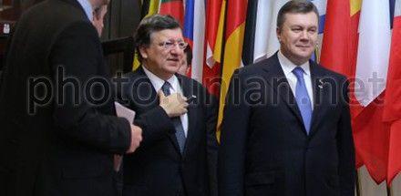 Виктор Янукович и Жозе Мануэль Баррозу