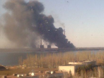 Пожар на Углегорской ТЭС / Фото: Донецк Вконтакте