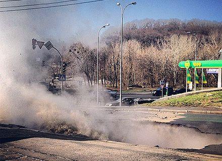провал асфальта / Фото: «Украинская правда»