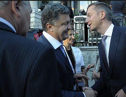 Ложкин и Порошенко. Фото: Медианяня