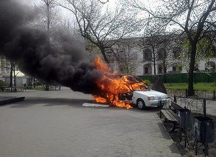 автокофейня пожар / Фото: пресс-служба ГУ ГСЧС Украины в Киеве