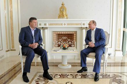 Янукович и Путин на встрече в Сочи / Фото пресс-службы Кремля
