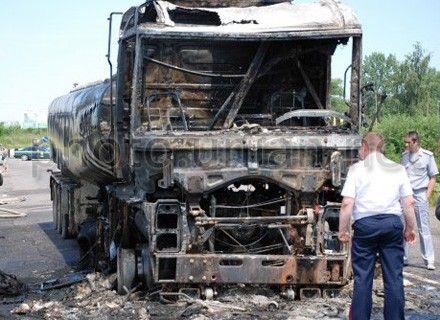 пожар грузовик